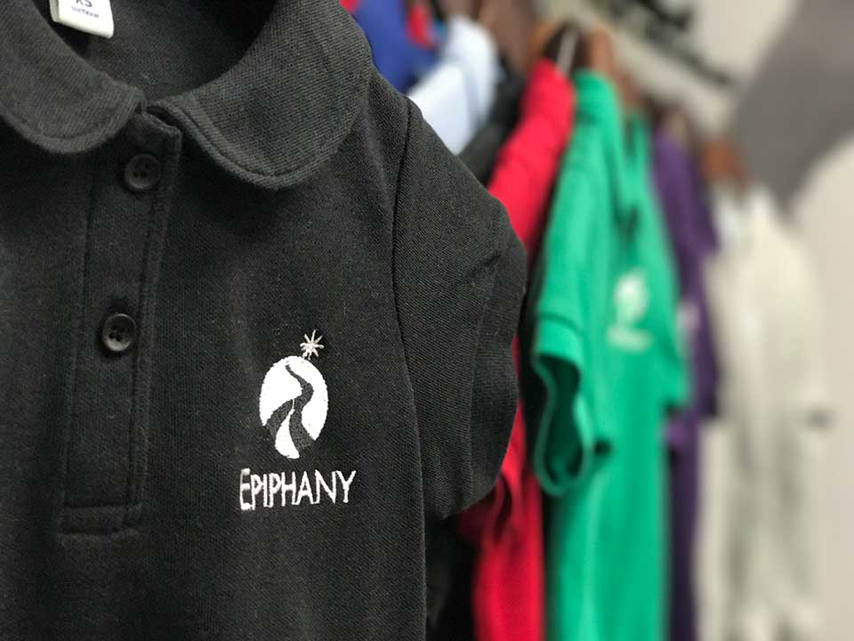 Custom Embroidered Epiphany School Polos